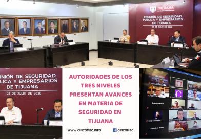 AUTORIDADES DE LOS TRES NIVELES PRESENTAN AVANCES EN MATERIA DE SEGURIDAD EN  TIJUANA
