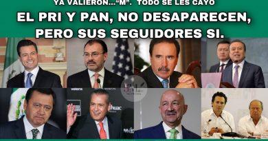 EL PRI Y PAN, NO DESAPARECEN, PERO SUS SEGUIDORES SI.
