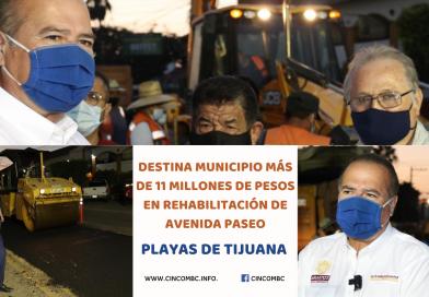 DESTINA MUNICIPIO MÁS DE 11 MILLONES DE PESOS EN REHABILITACIÓN DE AVENIDA PASEO PLAYAS DE TIJUANA
