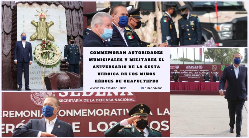 CONMEMORAN AUTORIDADES MUNICIPALES Y MILITARES EL ANIVERSARIO DE LA GESTA HEROICA DE LOS NIÑOS HÉROES DE CHAPULTEPEC