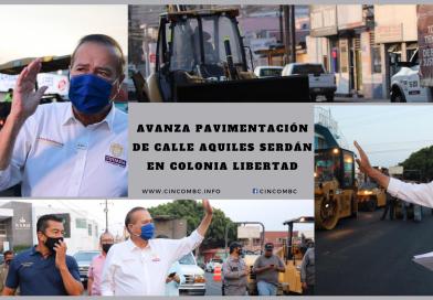 AVANZA PAVIMENTACIÓN DE CALLE AQUILES SERDÁN EN COLONIA LIBERTAD