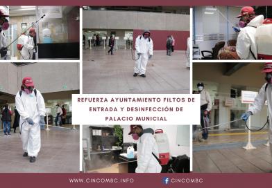 REFUERZA AYUNTAMIENTO FILTOS DE ENTRADA Y DESINFECCIÓN DE PALACIO MUNICIAL