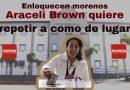 Enloquecen morenos Araceli Brown quiere repetir a como de lugar