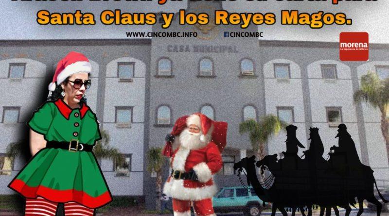 Araceli Brown ya tené su carta para Santa Claus y los Reyes Magos.