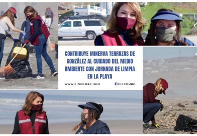 CONTRIBUYE MINERVA TERRAZAS DE GONZÁLEZ AL CUIDADO DEL MEDIO AMBIENTE CON JORNADA DE LIMPIA EN LA PLAYA