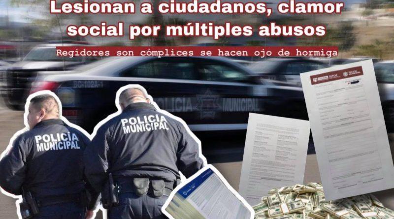 Policías Recaudadores, lesionan a ciudadanos, clamor social por múltiples abusos