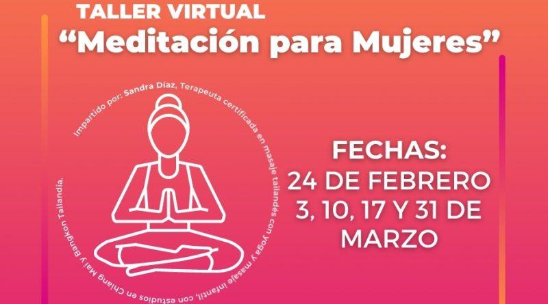 OFRECERÁ IMMUJER TALLER DE MEDITACIÓN VIRTUAL