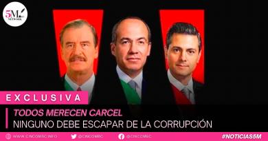 TODOS MERECEN CARCEL. NINGUNO DEBE ESCAPAR DE LA CORRUPCIÓN.