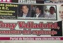 TONY VALLADOLID, PROMOTOR DEL ESPIONAJE