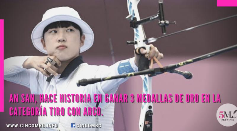 An San, hace historia en ganar 3 medallas de oro en la categoría Tiro con arco.