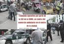Tremendo operativo por parte de la SSC de la CDMX, en contra del comercio ambulante en el centro de la ciudad
