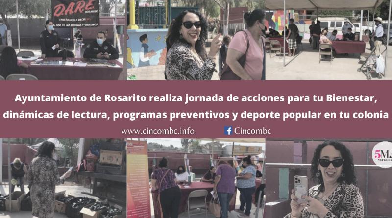 Ayuntamiento de Rosarito realiza jornada de acciones para tu Bienestar, dinámicas de lectura, programas preventivos y deporte popular en tu colonia